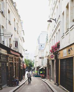 a quiet morning toward Rue Mouffetard. Paris
