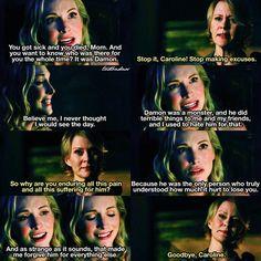 "#TVD 8x10 ""Nostalgia's A Bitch"" - Caroline and her mom"