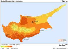 Solar Radiation Map of Cyprus - croatia • mappery