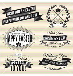 Black and white set of labels on easter vector by 111chemodan111 on VectorStock®