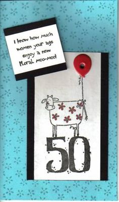 50th birthday fun by NellieKC - Cards and Paper Crafts at Splitcoaststampers