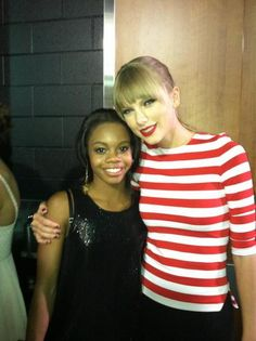 Taylor Swift & Gabby Douglas, gold medalist in the 2012 olympics for gymnastics.