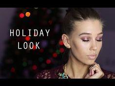 Праздничный макияж: бордовый металлик - YouTube