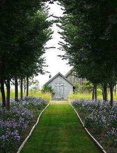 path to barns.