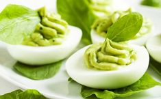 Quick Blend Avocado Devilled Eggs This is my mayonnaise-free, healthy version of devilled eggs that is full to bursting with goodness. You could have this for breakfast as something healthy to start. Avocado Deviled Eggs, Bacon Deviled Eggs, Deviled Eggs Recipe, Avocado Recipes, Egg Recipes, Other Recipes, Avocado Food, Mayonnaise, Avocado Egg Boats