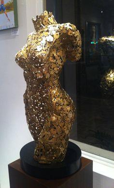 Keys to My Heart, Sculpture, Niso Maman Steel Sculpture, Sculpture Art, Mermaid Man, Scrap Metal Art, Pvc Pipe, Resin Art, Welding, Art Forms, Female Art