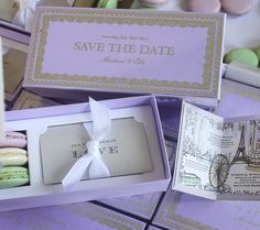 We're so thrilled to finally share these Ladurée Inspired Wedding Timeline Save the Dates featured in the latest issue of BRIDES UK Magazine!  When Elle first contacted me she shared her idea to embellish a box of fresh macaroons from Ladurée – all meant to be sent to guests within 48 hours of packaging!  It was of …