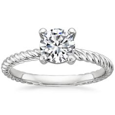 18K White Gold Entwined Ring from Brilliant Earth