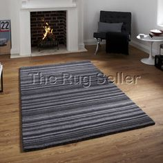 Oxford OX10 Black Grey Rug from £197.10