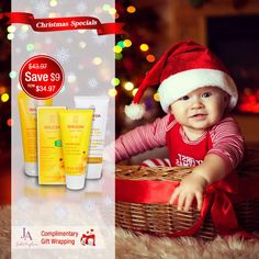 Save $9 on Weleda Baby Christmas Bundle. Complimentary gift wrapping & Free Express Shipping till December 24th 2015. #Weleda #Baby #Christmas Christmas 2015, Christmas Baby, December, Wraps, Crochet Hats, Gift Wrapping, Seasons, Gifts, Free