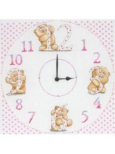 Unique Forever Friends Cross Stitch Kit Clock. £21.50
