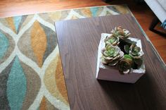Our space needed some pattern and color! I knew right away when I saw this rug, sold over at Walmart.com, that it was the perfect choice...