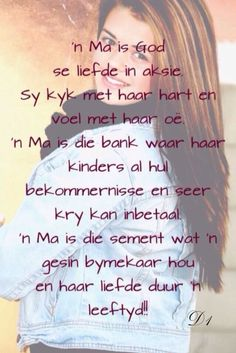 Troodwoorde vir 'n ma Christian Friendship Quotes, Christian Quotes, Mothers Day Quotes, Mothers Love, 21st Birthday Quotes, My Children Quotes, Afrikaanse Quotes, Quotes About Motherhood, Marriage Relationship