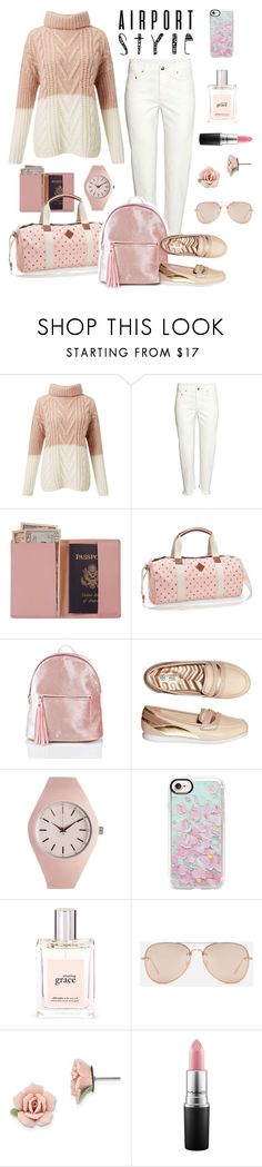 """""""airport style"""" by aries-indonesia ❤ liked on Polyvore featuring Miss Selfridge, Royce Leather, Aéropostale, Avon, Casetify, philosophy, CHARLES & KEITH and 1928"""