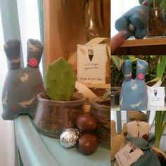 Pâques. Le lapin qui cache l'oeuf Art Et Design, Objet D'art, Creative Workshop, Softies, Rabbits, Fabrics, Objects