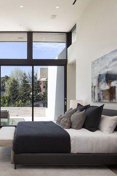 modern black and white bedroom inspiration - interior design inspiration