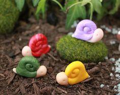 Polímero arcilla Tortuga Tortuga miniatura Mini por GnomeWoods