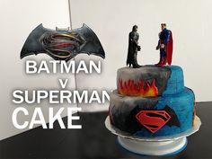 BATMAN V SUPERMAN CAKE!