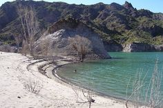 Atuel playa, San Rafael, Mendoza, Argentina.