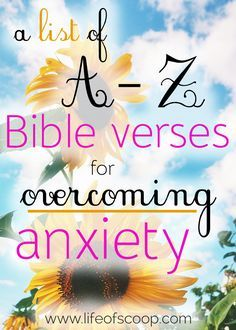 Are you searching for relief from anxiety? Meditating on this A-Z list of Bible verses is the best way of coping with anxious thoughts, fears, and worries. Scripture is full of powerful truth. Claim it for yourself today & find peaceful relief! What Is Anxiety, How To Calm Anxiety, Deal With Anxiety, Stress And Anxiety, Anxiety Quotes, Scriptures For Anxiety, Bible Scriptures, Texts