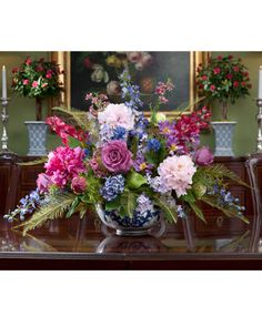 Gorgeous Peony, Rose U0026 Delphinium Silk Flower Centerpiece At  OfficeScapesDirect Part 39