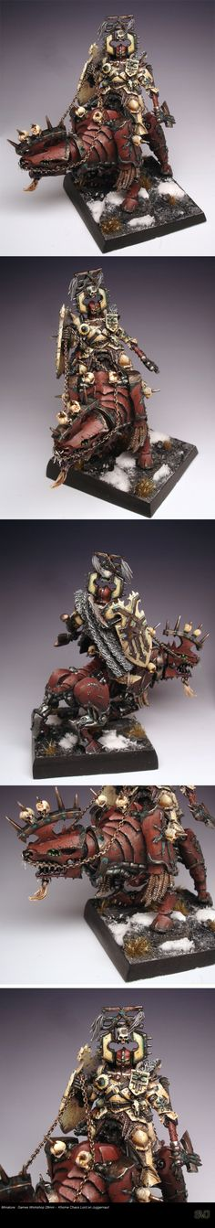 GW Khorne Chaos Lord on Juggernaut  miniature for #Warhammer Fantasy Battles