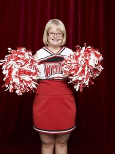 This article is about Becky Jackson, a character on the hit show Glee(an American musical comedy-drama television series) . Becky was born with down syndrome and is one of the main recurring characters on Glee. Glee Cheerios, William Mckinley High School, Lauren Potter, Glee Club, Down Syndrome, Season 3, Favorite Tv Shows, Role Models, Cheer Skirts