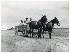 Ben Turner and family in their wagon with mule team. Flint River Farms GA, May 1939 Vintage Farm, Vintage Trucks, Ben Turner, Flint River, Dust Bowl, Photo Boards, New York Public Library, Black And White Pictures, Back In The Day