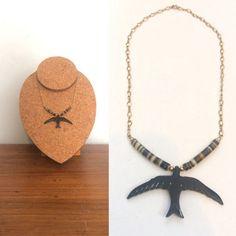 Vintage Bird Eagle Necklace / Ethnic Pendant by HawkandEcho