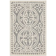 Safavieh Handmade Cambridge Moroccan Silver Wool Area Rug (4' x 6') - Overstock™ Shopping - Great Deals on Safavieh 3x5 - 4x6 Rugs
