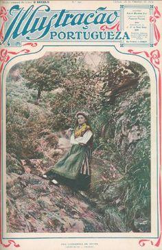 """Capa da edição de 18 de outubro de 1909 da revista """"Ilustração Portugueza"""" apresentando """"Uma lavradeira de Afife"""""""