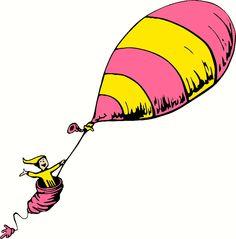 Dr Seuss Places You'll Go Balloon vinyl decal. More