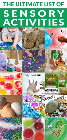 Ultimate list of sensory activities for babies, toddlers and kids. Sensory bins, bags, boards and many sensory plays for your kids to enjoy today.