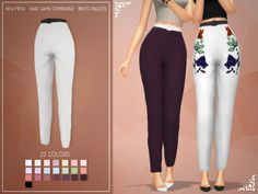 The Sims 4 Enriques4-Kimb Pants (Mesh) by Jruvv Available at The Sims Resource DOWNLOAD This is a Set with Creations New MeshBase Game CompatiblePastry Box 8bitto Pallete22 Colors (Inlcude Black & White)Found in category: Bottoms/Pants Twitter: @Enriques4ccTumblr: enriques4.tumblr.comBlog: enriques4.blogspot.com Credits: S4S, Blender Type: Bottoms Recoloring Allowed: Yes – Do not include mesh Creating Tool used: Sims4Studio ID: SC4-103211 Category Tags: Clothing , Fashion...