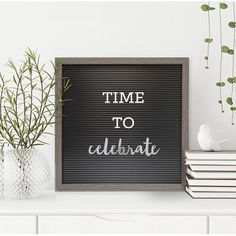 "5.15""x12.15"" 8pc Annual Milestone -Word Pack Decorative Wall Art Light Steel - Room Essentials"