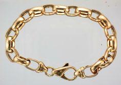 "Approx 7.5 /"" Rose Gold Filled Dainty Double Belcher Bracelet 19 cm"