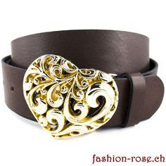 Set Ledergürtel mit Herz Wechselschnalle ein perfektes Geschenk Rind, Accessories, Fashion, Silver Jewellery, Dark Brown, Heart, Wristlets, Gift, Moda