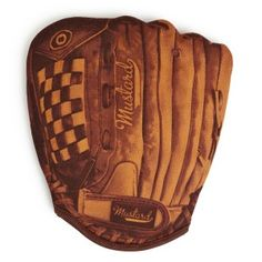 Home Run Baseball Oven Mitt-So there's Dad. Loves to cook. Loves to play ball. This mitt takes care of them both!