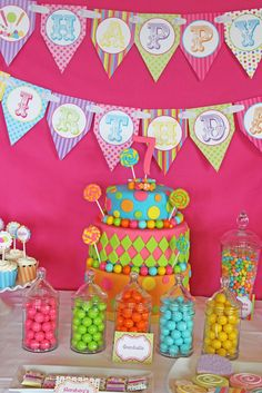 candy shoppe birthday party & Katy Perry Music Girl Themed Party Planning Ideas Cake Decorations ...