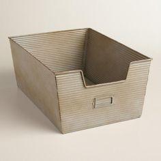 Ribbed Metal Stephen Basket - v1