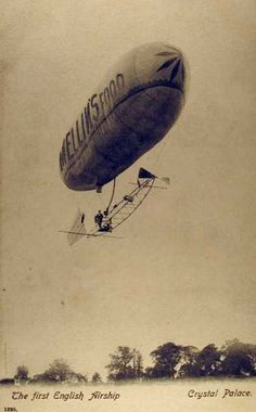 Vintage Postcards The first English Airship
