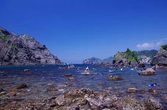 あたり一帯は国立公園であり何も開発がされていないこと、付近に川などがないこと、伊豆半島の最も最南端の海岸で黒潮の通り道となっていること等、様々な条件が重なったこの海岸は伊豆地区で最も水の美しい海水浴場です Landscape, Water, Outdoor, Gripe Water, Outdoors, Scenery, Outdoor Games, The Great Outdoors, Corner Landscaping