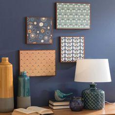 blue ceramic lamp H 34 cm | Maisons du Monde