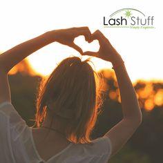 Feel the love at Lash Stuff. #eyelashextensions #lashextensions #beautyschool #lashes