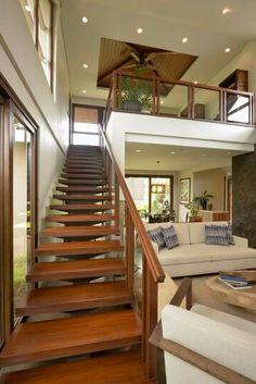 4 Asian Home Decor Ideas Simple House Interior Design, Home Stairs Design, Dream Home Design, Modern House Design, Modern Tropical House, Tropical House Design, Modern Filipino House, Philippines House Design, Philippine Houses