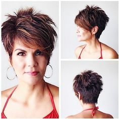 Women Short Hairstyles for Long Faces