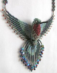 http://www.uniquebeadedjewelry.com/patterns/a3dpatterns.html. beaded bird patterns, more than this.