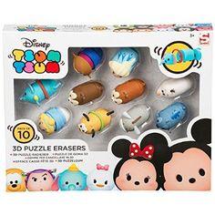 Disney Tsum Tsum Puzzle Erasers Pack of 10 Disney Toys, Disney Films, Disney And Dreamworks, Disney Pixar, Toys For Girls, Kids Toys, Tsumtsum, Disney Tsum Tsum, Buy Toys