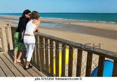 Stock Foto - Islantilla, sandstrand, Lepe, Huelva-province, spanien