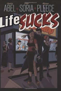 Life Sucks by Jessica Abel http://www.amazon.com/dp/1596431075/ref=cm_sw_r_pi_dp_W3kItb10QMC7P21F